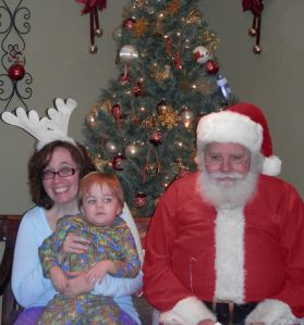 Liam was not thrilled to meet Santa.