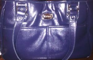 Purple Nine & Co bag I bought at Kohl's on Clearance.  I can't remember the exact price, but I think it was around 25-30 dollars.