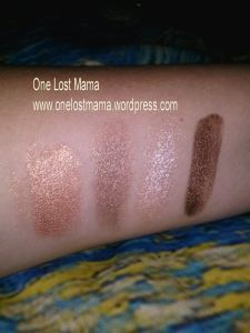 Swatches with Flash: (L to R) Wild Geranium, Quick Sand, Fancy Pants and Bronzed
