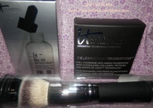 It Cosmetics.  They are amazing.  This is a pic of some new products I am trying!