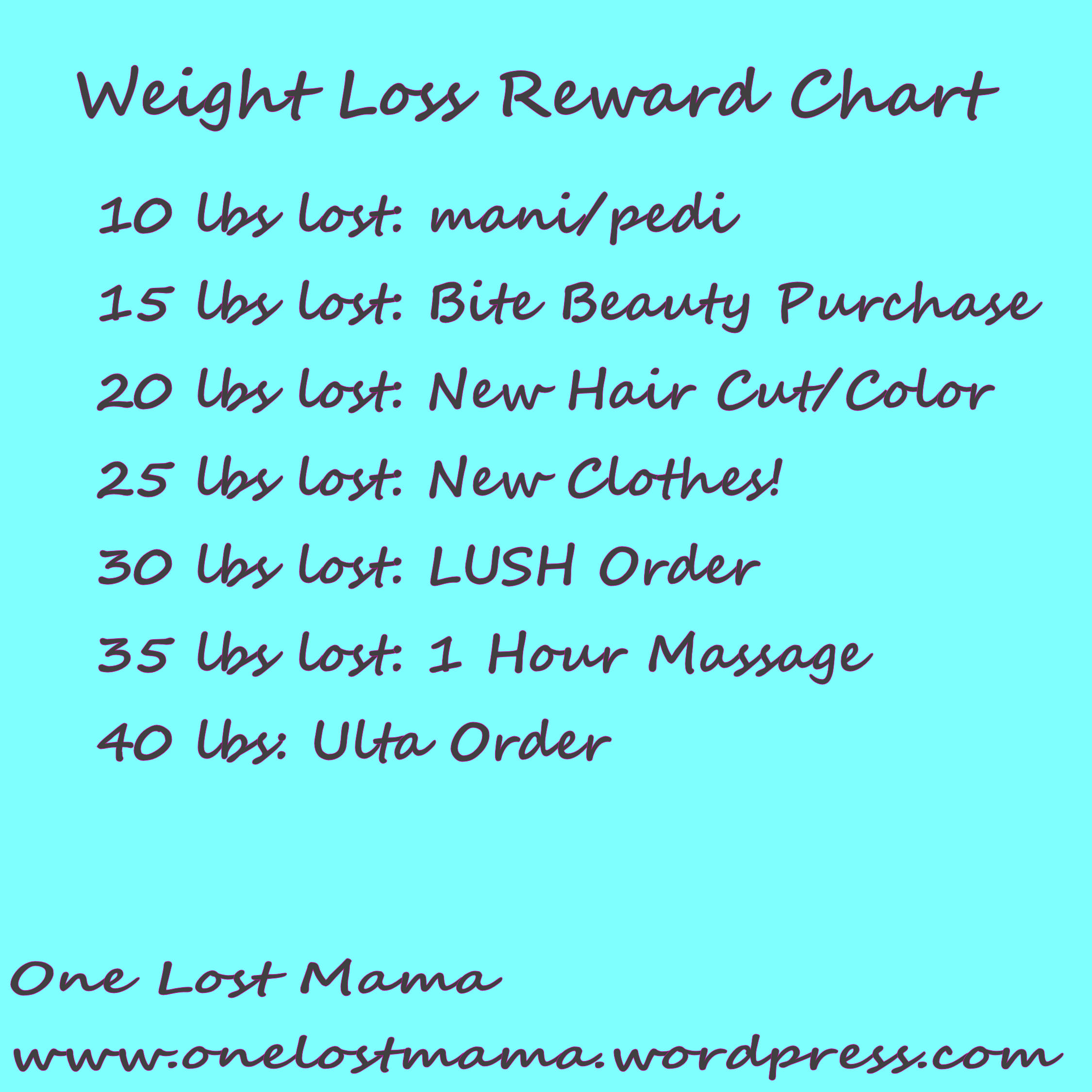 Weight loss onelostmama reward chart does anyone have any tips for weight loss if so let me have them in the comment section below nvjuhfo Choice Image